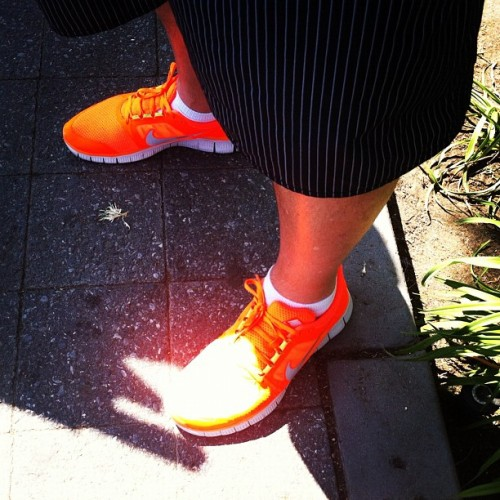 What kind of asshole wears bright neon shoes with striped shorts? Oh wait, that's @Kranzl. (Taken with Instagram)