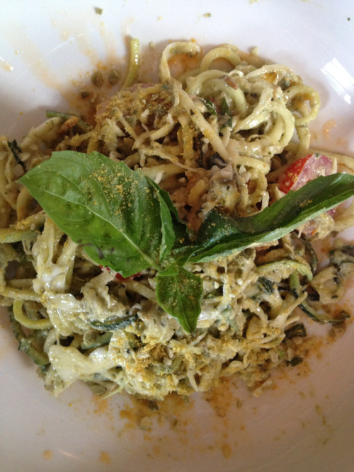 Raw Zucchini Linguine Pesto @ Six Main