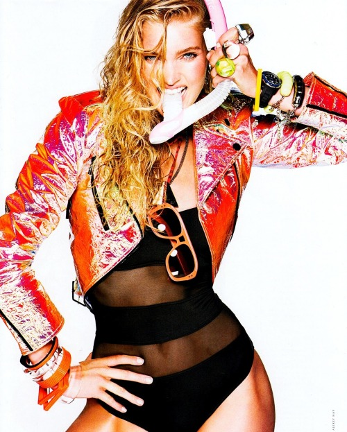 monsieur-j:  Energy Drink - Elsa Hosk - Elle Italia - July 2012