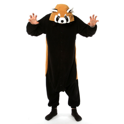 Red Panda Kigurumi OMFG - I can't believe they have this. Thank GOD I checked @fab today.  Red pandas are my favorite animal of all time, and now I can be one whenever I want.  AND, more importantly I can eat myself silly until halloween, because I will not have a skanky costume this year. Win. Win.