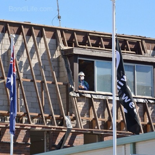 Between the flags - North Bondi Surflifesaving Club redevelopment #bondibeach #seeaustralia #bondi #seesydney #nofilter #nsw #australia #rival swimwear #nbsls #nbsbls (Taken with Instagram at Bondi Beach)