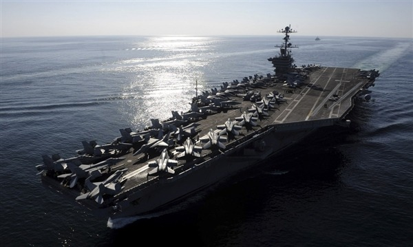 Aircraft carrier USS Stennis going to Persian Gulf early, staying longer The Pentagon is sending the aircraft carrier USS John Stennis to the Persian Gulf region four months ahead of schedule for an eight-month deployment – twice as long as originally planned, defense officials told NBC News on Monday. The major shift in the Stennis deployment is a response to steadily rising tensions over Iran's nuclear program, Iran's threat to shut down the Strait of Hormuz over tighter international sanctions and the possibility that Israel may launch pre-emptive airstrikes against Iran's nuclear facility. Read the complete story.