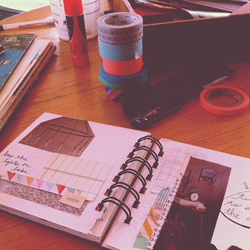 Another day of 'me' time to work in my 'scrap book' :) (Taken with Instagram)