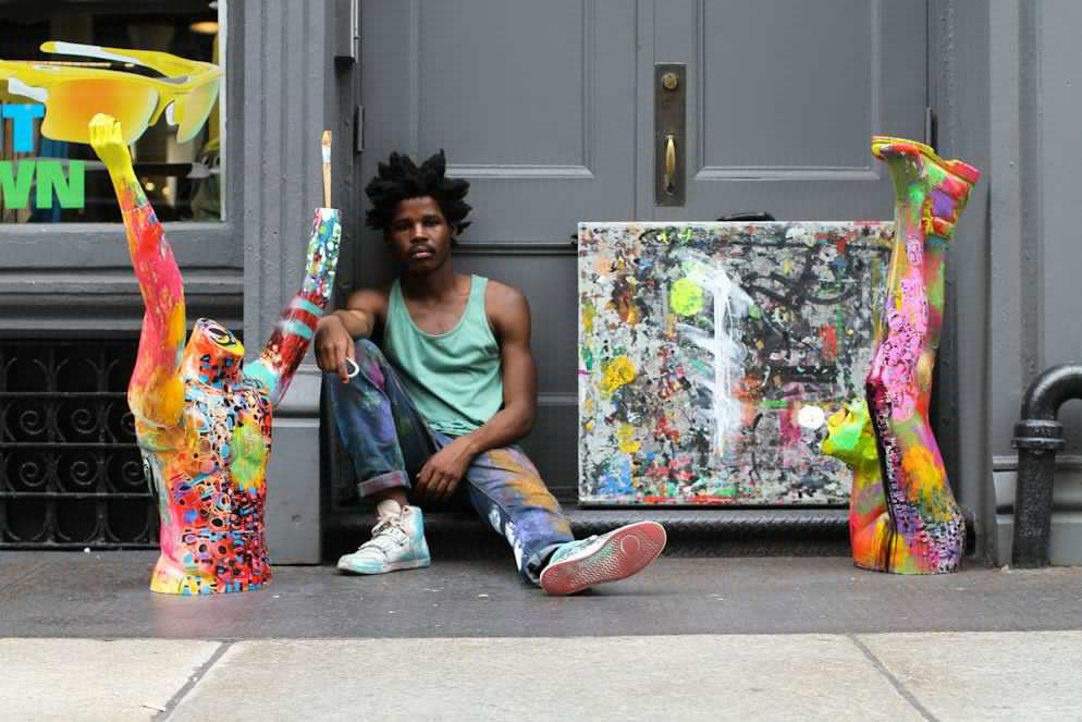 humansofnewyork:  Some art costs an arm and a leg. Some art is an arm and a leg.