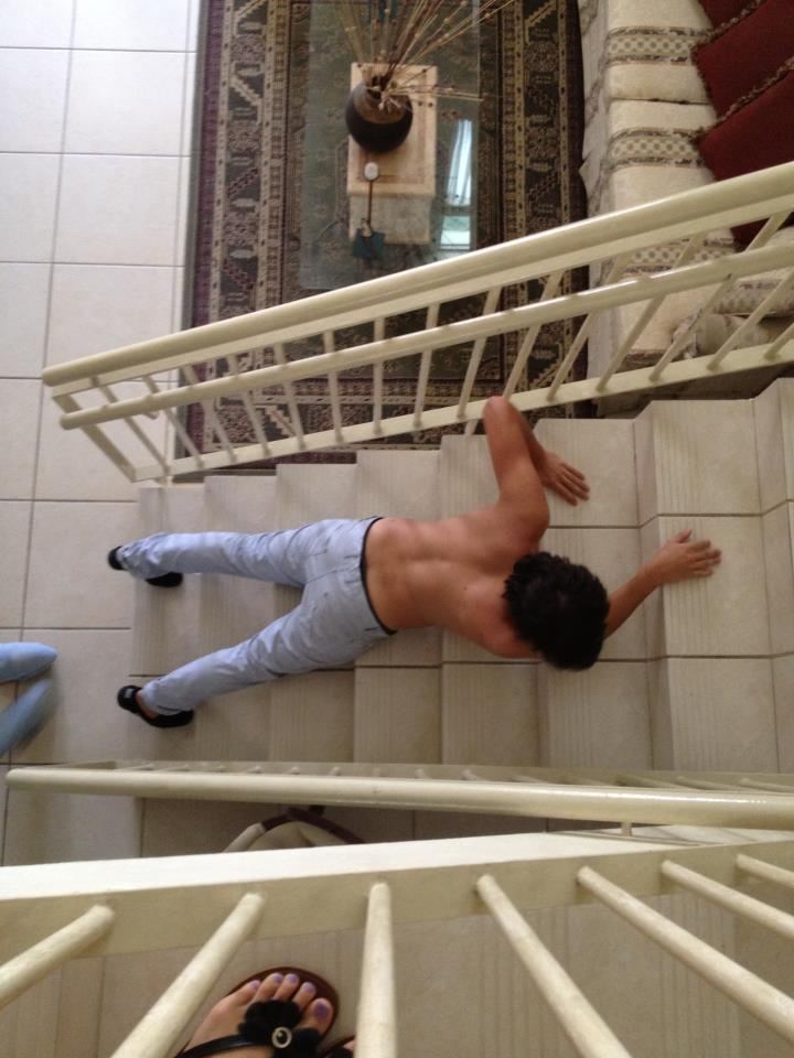 i slept on the stairs i dont remember why dont judge me