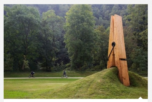 helloyoucreatives:  Giant peg sculpture, Belgium