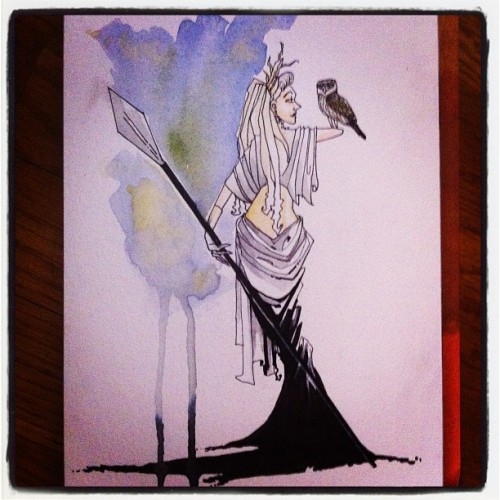 Athena commission #sdcc  (Taken with Instagram)