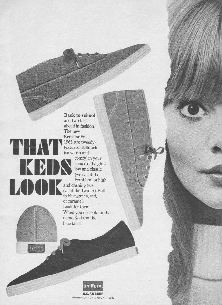keds:  A taste of what Keds was in 1965. So Twiggy!   #kedette