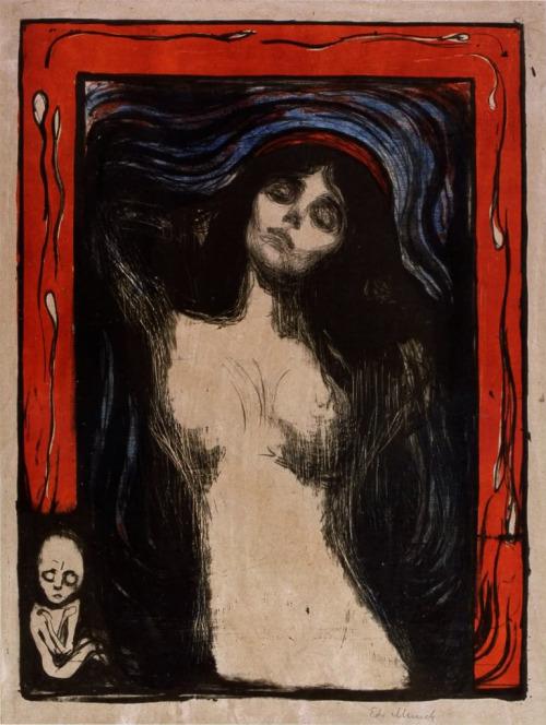 sorornex: Edvard Munch, Madonna, circa 1895-1902.