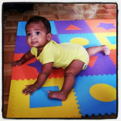 baby doing the splits lol (Taken with Instagram)