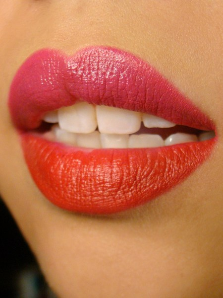 beautylish:  Would you try color block lips like Chassy D.'s?