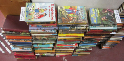 Some of the unshelved vintage children's books at Books On View. Check them out at 702 View St, or browse our stock online at russellbooks.com!