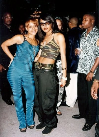 "moneyclothesnhoes:  Lisa ""Left Eye"" Lopes x Aaliyah"