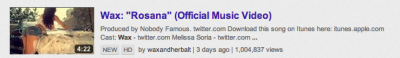 1 Million views on the #Rosana video in 3 days!