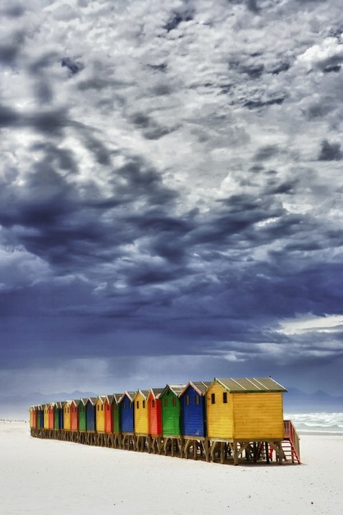 microwalrus:  未設定 - Beach Huts in Muizenberg, Cape Town  via Andrew Firstenberger