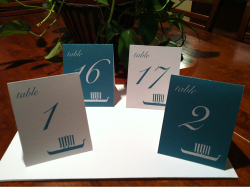 Was productive yesterday ;) I also finished table numbers for a friend's wedding!