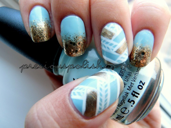 Woven Gold by Brittney W. | Beautylish - I want to try this!