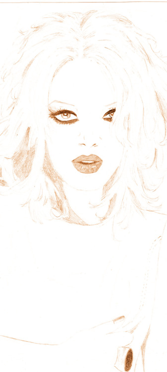 garbageboy31:    Mi dibujo de Shirley Manson!! I hope you like Dear Shirley!   #Garbage garbage shirley manson garbagegallery