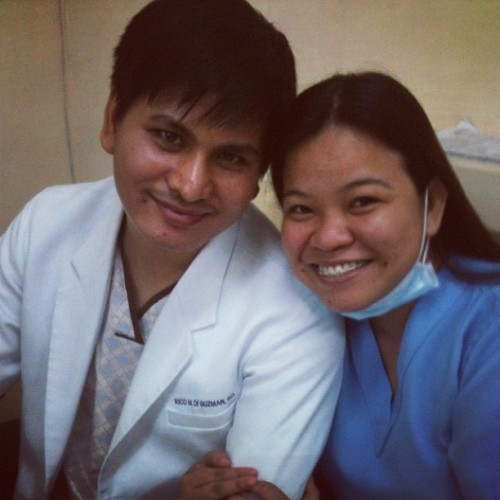 2 medics @ricomd smiling during duty #smiles #morninggoodvibes #yestopregnancy (Taken with Instagram)
