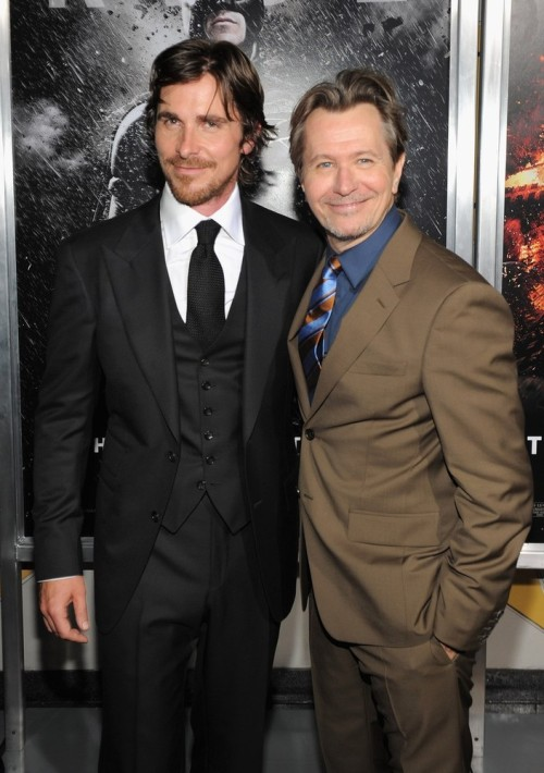 bohemea:  Christian Bale & Gary Oldman - The Dark Knight Rises New York premiere, July 16th 2012
