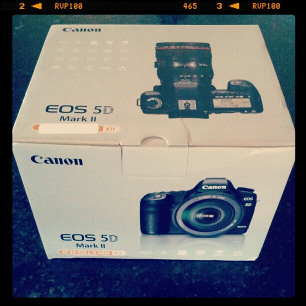 After an eternity of trying to save up, this. #extremeexcitement #5DMkII #photography (Taken with Instagram)