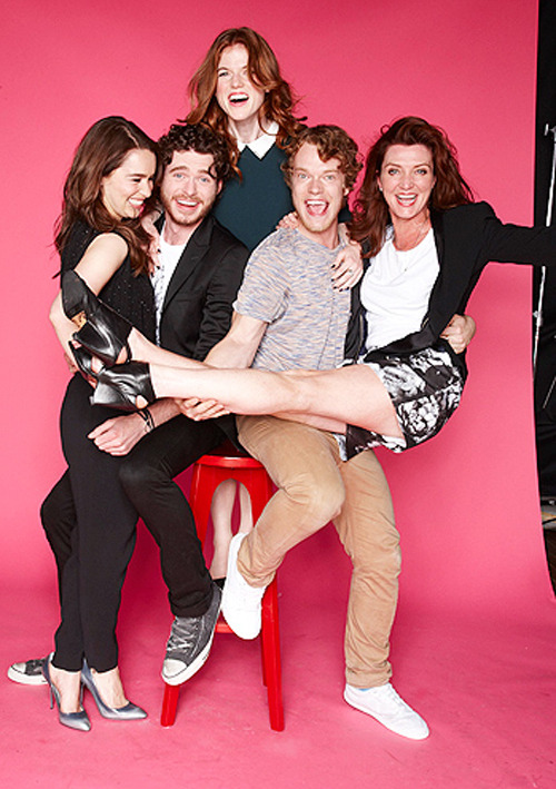 Emilia Clarke, Richard Madden, Rose Leslie, Alfie Allen and Michelle Fairley photographed by Jason O'Dell for TV Guide at San Diego Comic-Con, July 13th