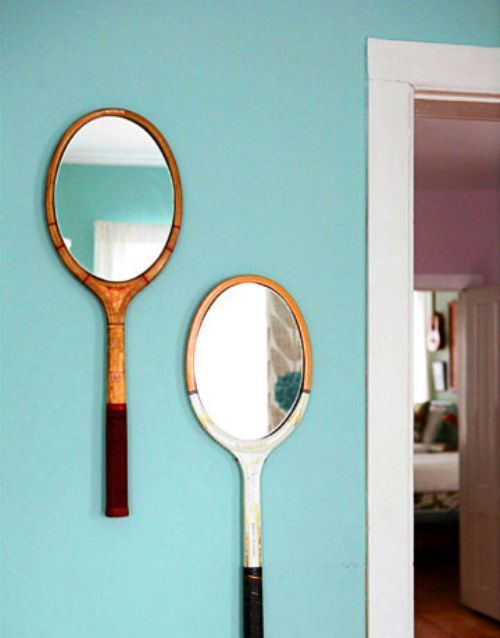 coollikepie:  Tennis Mirrors (via Reduce. Reuse. Recycle. - Cool Like Pie)