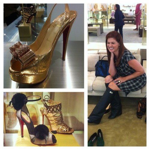 Gaaaah why are you so cute Debra? Debra Messing at Barneys New York.