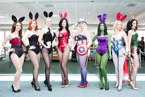 "Avengers Assemble!!! Just image it's Comic-Con and Playboy aniversary at the same time… and I'm not there :( !#§$%&/Z@(&/UER(/""##*+§$&T$%@!!!!!"