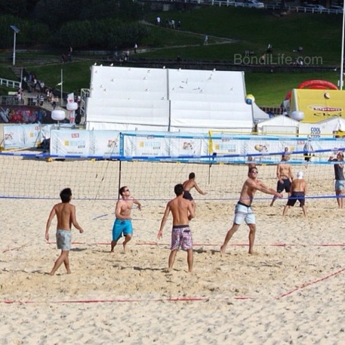 Bondi beach volleyball action #bondibeach #seeaustralia #bondi #seesydney #nofilter #nsw #australia #beachvolleyball (Taken with Instagram at Bondi Beach) Visit Bondi Life on Facebook | The Bondi Life Blog | Twitter | Google+ | Instagram | Pinterest