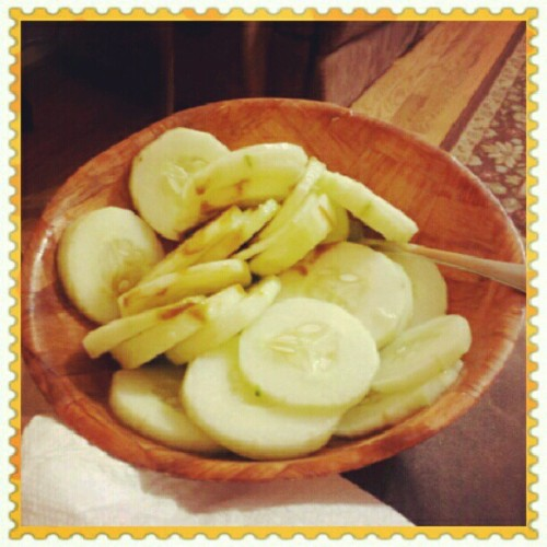 Delicious dinner.. #cucumber #lime # salt #delicious #dinner #yummy (Taken with Instagram)