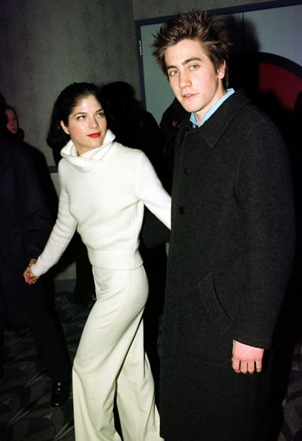 Selma Blair, even more tiny than usual next to a hulking Jake Gyllenhaal, at the 1999 Down to You premiere.