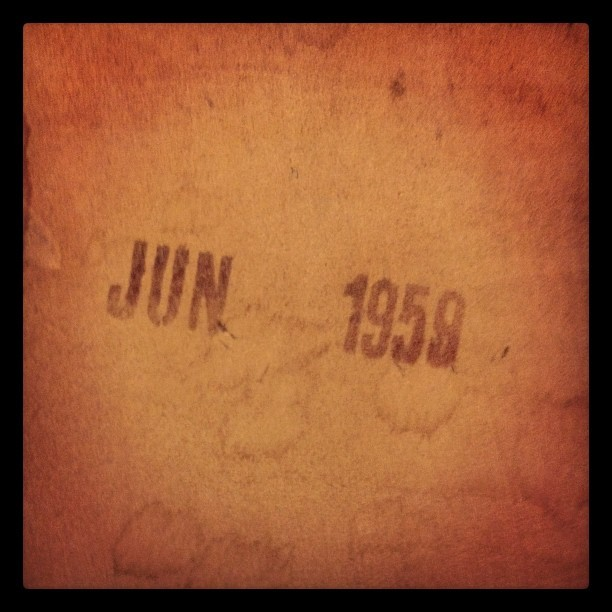 JUN 1959 is the stamp on the bottom of the darling little table and chairs I just got on CL (Taken with Instagram)