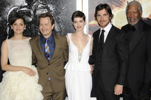 bohemea:  Marion Cotillard, Gary Oldman, Anne Hathaway, Christian Bale & Morgan Freeman - The Dark Knight Rises New York premiere, July 16th 2012