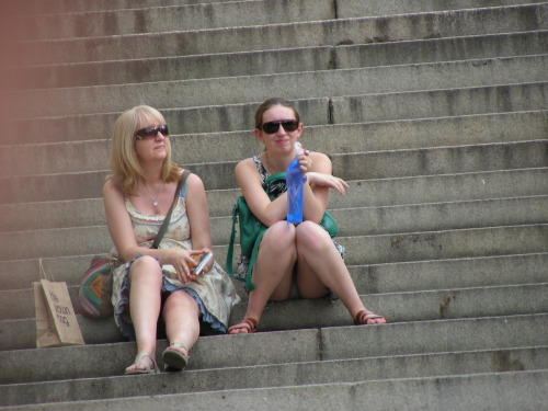 Has Mother and daughter upskirt doggystyle buttfucking
