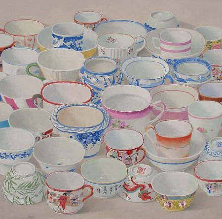 Peter Plamonden Teacups and Bowls 2012