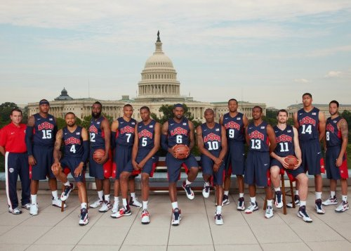2012 Men's U.S. Olympic Basketball Team (Washington, D.C.) (via NBA on ESPN's Facebook)