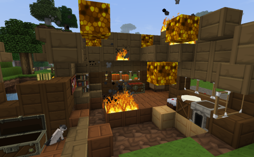 "So uhm…wtf house? I come back and your on fire. - NekoNoms ""WELL IT BURNED AND I CRIED"""