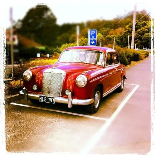 Mercedes Car. #mercedes #vintage # classiccars (Taken with Instagram)