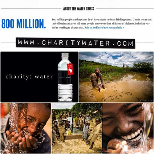 JOIN US! @charitywater 💦👍 #charitywater #donate #help #water (Taken with Instagram)