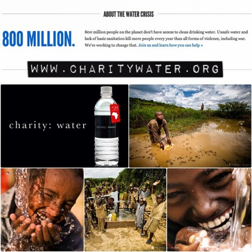 Join us! @charitywater 💦👍 #charitywater #donate #water #cleanwater #help  (Taken with Instagram)