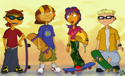 "Why why why isn't Rocket Power on TV anymore?? Artist Limey404's commentary on her art just cracks me up: ""Otto came out looking like a douchefuck but he looked like one to begin with so there wasn't really much I could do. Ahah."""