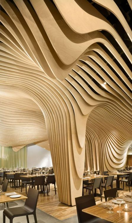 the-design-nerd:  The amazing interior architecture of the Banq restaurant in Boston, MA