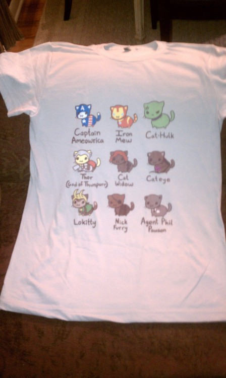 I got my catvengers shirt in the mail today! It's everything I ever hoped it would be ;u; (You can buy your own catvengers shirt here)