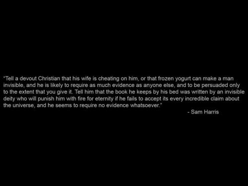 religionisimmoral:  I love Sam Harris, if you haven't read Letter to a Christian Nation I highly recommend it! I'm trying to pick up some of his other books.