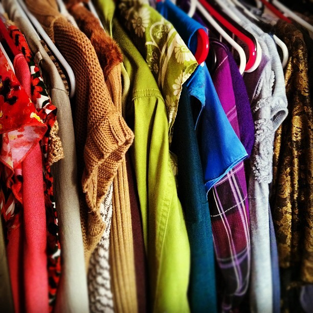 Redoing my closet. See you in about 1 year. #fashion #clothes #colorful  (Taken with Instagram)