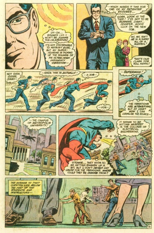 I challenge you to write an analysis of the storytelling on this Curt Swan Superman 378 page. :)