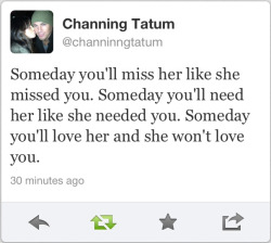 Yesssss, Channing. Thank you for this.