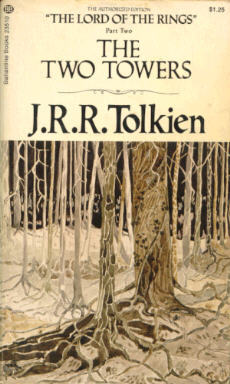 The Two Towers by J. R. R. Tolkien  The Two Towers is every bit as amazing as the first book. I have to admit, I got a little lost in some of the descriptions, but I've never been one for descriptions anyway. When the action came I got so sucked in that it more than made up for any previous lapse of attention. It doesn't hurt that the end is filled with Sam, who being my favorite character can only leave a favorable impression.