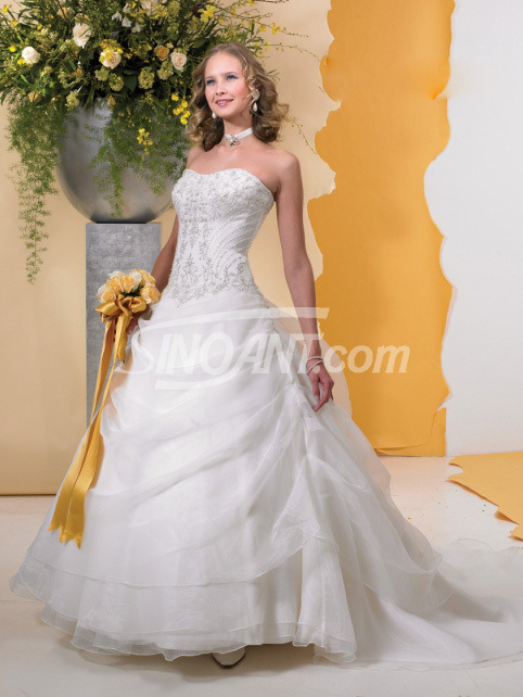 Alluring, Scoop Neckline, Sequins, Organza, Wedding Dress,  Princess http://bit.ly/NPW0MT